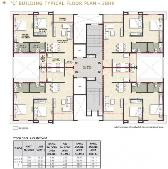 Project Image of 0 - 681.25 Sq.ft 2 BHK Apartment for buy in Vascon Xotech Phase 2