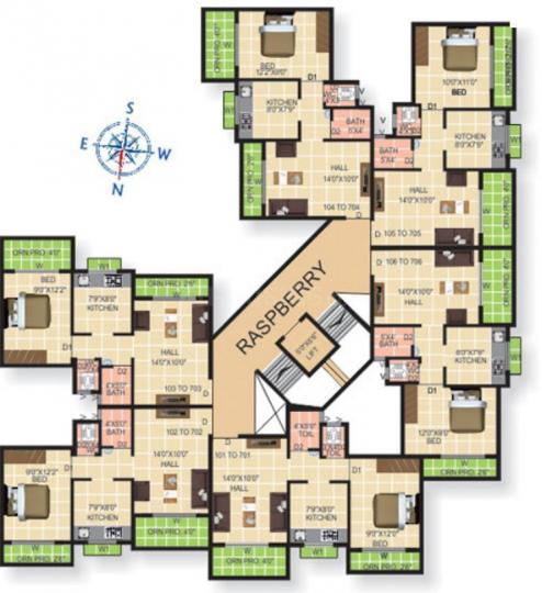 Project Image of 620.0 - 935.0 Sq.ft 1 BHK Apartment for buy in Motiram Motiram Greens