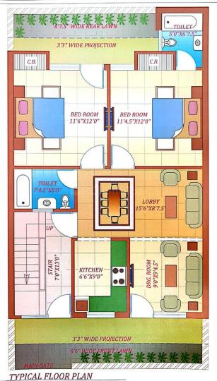 Project Image of 0 - 1080 Sq.ft 2 BHK Apartment for buy in Hare Krishna Developer Krishna Home 9