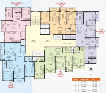 Project Image of 1160 - 1650 Sq.ft 2 BHK Apartment for buy in Nirmala Province