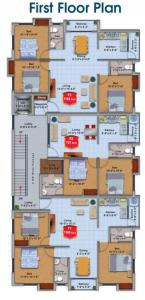 एम सी छेंठुर फ्लैट्स में खरीदने के लिए 787.0 - 1163.0 Sq.ft 2 BHK अपार्टमेंट प्रोजेक्ट  की तस्वीर