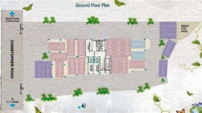 Gallery Cover Image of 1421 Sq.ft 2 BHK Apartment for rent in Ekta Floral, Tangra for 28000