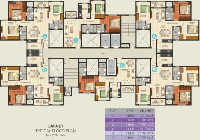 Gallery Cover Image of 1085 Sq.ft 2 BHK Apartment for buy in Ideal Aquaview, Salt Lake City for 6700000