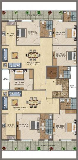 Project Image of 0 - 1400.0 Sq.ft 3 BHK Apartment for buy in Ompee Crest 2