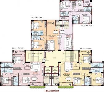 Gallery Cover Image of 1360 Sq.ft 3 BHK Apartment for buy in Shrachi Dakshin, Panchpota for 7608000