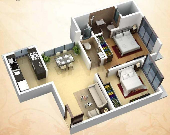 Project Image of 572.0 - 575.0 Sq.ft 1 BHK Apartment for buy in DGS Sheetal Deep