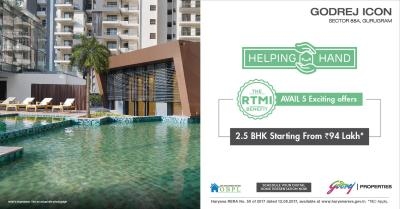 Project Image of 1617.0 - 3008.0 Sq.ft 2.5 BHK Apartment for buy in Godrej Icon