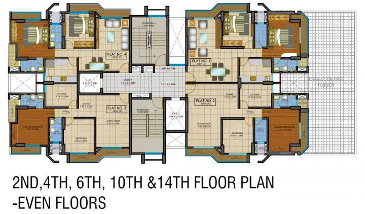 Project Image of 679.0 - 741.0 Sq.ft 2 BHK Apartment for buy in Aurum