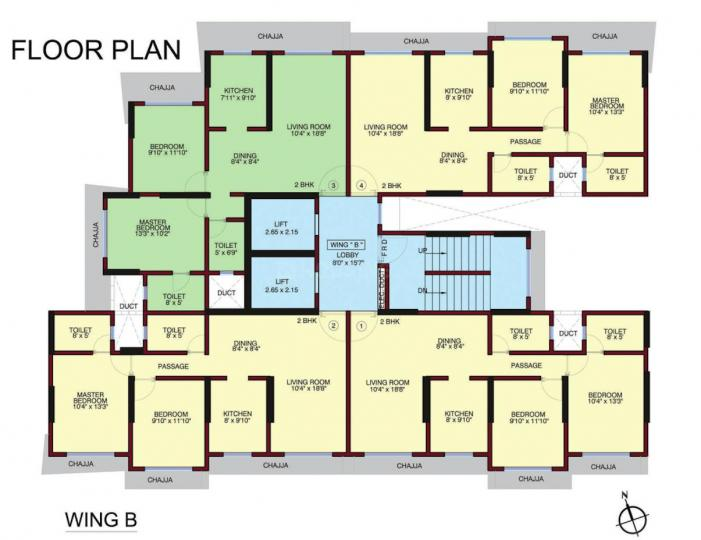 Project Image of 500.0 - 738.0 Sq.ft 2 BHK Apartment for buy in RRB Satra Harmony