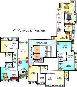 Project Image of 362 - 534 Sq.ft 1 BHK Apartment for buy in Mukti Shantinath Tower