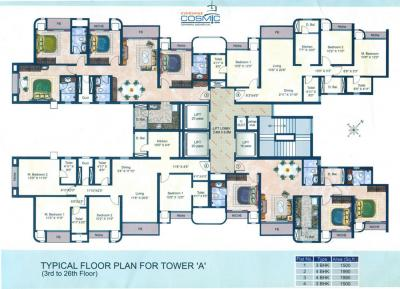 Project Image of 1095.0 - 1990.0 Sq.ft 2 BHK Apartment for buy in Evershine Cosmic
