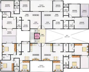 Gallery Cover Image of 1350 Sq.ft 3 BHK Apartment for buy in GK Dwarka Queens Park, Rahatani for 9000000