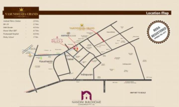 Project Image of 1280.0 - 2250.0 Sq.ft 2 BHK Apartment for buy in Nandini The Vasundhara Grand