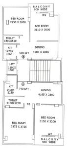 Project Image of 590.0 - 740.0 Sq.ft 2 BHK Apartment for buy in Saraswati Tanisha Apartment