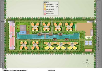 Gallery Cover Image of 919 Sq.ft 1 BHK Apartment for buy in Central Park Flower Valley, Sector 33, Sohna for 8100000