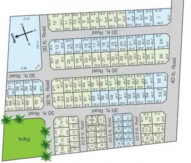 Project Image of 646.0 - 3183.0 Sq.ft Residential Plot Plot for buy in Bhaggyam Gopalakrishnan Nagar