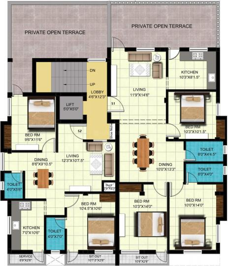 Project Image of 905.0 - 1120.0 Sq.ft 2 BHK Apartment for buy in Global Nivas