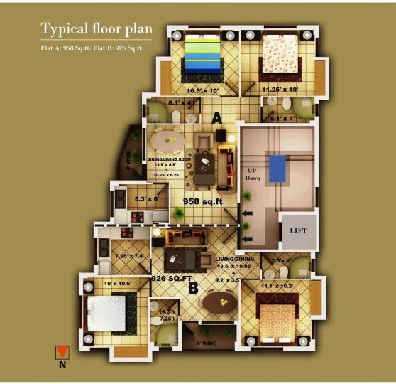 Project Image of 926.0 - 958.0 Sq.ft 2 BHK Apartment for buy in Daffodil Hives
