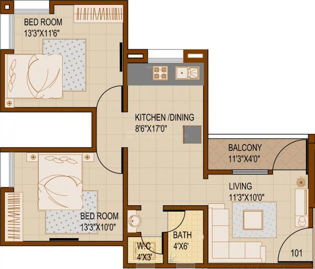 Project Image of 270.39 - 814.4 Sq.ft 1 BHK Apartment for buy in SG Rainbow