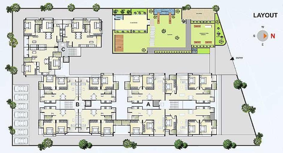 Project Image of 1332.0 - 1800.0 Sq.ft 2 BHK Apartment for buy in Earth Pratishtha Elegance