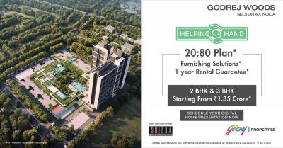 Project Image of 1255.0 - 2088.0 Sq.ft 2 BHK Apartment for buy in Godrej Woods
