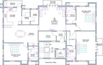 Project Image of 0 - 2475 Sq.ft 3 BHK Apartment for buy in Pushkar Villa Christos