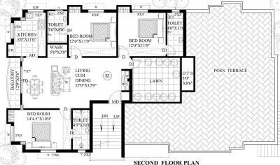 Project Image of 745 - 1400 Sq.ft 2 BHK Apartment for buy in Guru Aishwarya