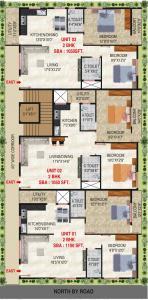 एसएलवी ग्रांड में खरीदने के लिए 1050.0 - 1100.0 Sq.ft 2 BHK अपार्टमेंट प्रोजेक्ट  की तस्वीर