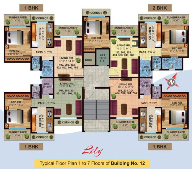 Project Image of 341.75 - 657 Sq.ft 1 BHK Apartment for buy in Jeevan Lifestyles