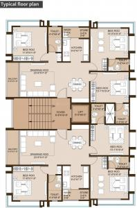 Project Image of 937.54 - 939.9 Sq.ft 3 BHK Apartment for buy in Shraddha Sach