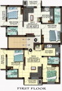 Project Image of 824.0 - 841.0 Sq.ft 2 BHK Apartment for buy in MP Dhatri