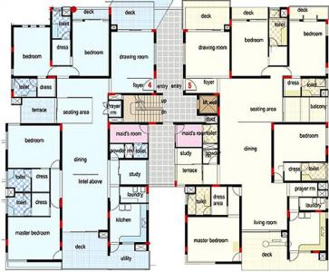 Gallery Cover Image of 4200 Sq.ft 4 BHK Apartment for rent in Kavuri Crosswinds, Banjara Hills for 165000