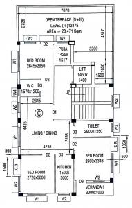 Project Image of 744.0 - 795.0 Sq.ft 2 BHK Apartment for buy in MS Grihanibaws