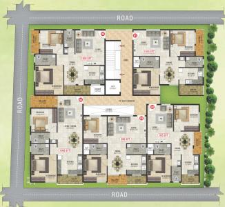 Project Image of 955.0 - 1060.0 Sq.ft 2 BHK Apartment for buy in VRL Homes