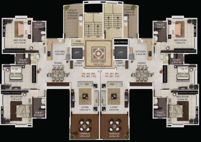 Project Image of 1155 - 2162 Sq.ft 3 BHK Apartment for buy in Ambiience Greendale Wing D