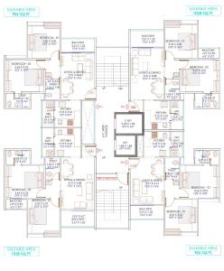 Project Image of 558.75 - 610.96 Sq.ft 2 BHK Apartment for buy in Majestique Mrugavarsha Phase II