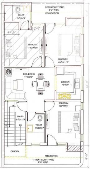 Project Image of 0 - 1080 Sq.ft 3 BHK Apartment for buy in Hare Krishna Developer Krishna Home 4