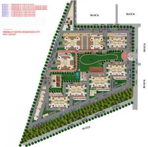 Project Image of 1040.0 - 2200.0 Sq.ft 2 BHK Apartment for buy in Eros Wimbley Estate