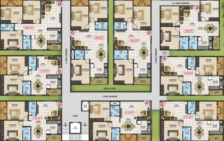 Project Image of 1110.0 - 1435.0 Sq.ft 2 BHK Apartment for buy in Brindavanam