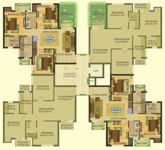 Gallery Cover Image of 1000 Sq.ft 2 BHK Apartment for rent in Sare Royal Greens, Sector 92 for 12500
