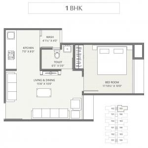 Project Image of 639 - 918 Sq.ft 1 BHK Apartment for buy in Sarjan 2