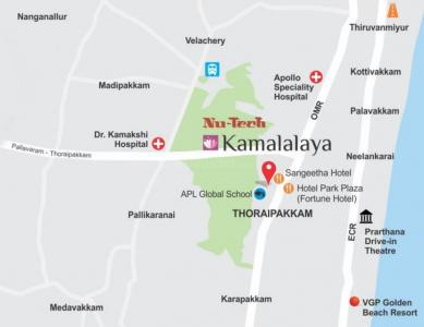 Gallery Cover Image of 1431 Sq.ft 3 BHK Apartment for buy in Nutech Kamalalaya, Thoraipakkam for 9300000