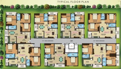 Gallery Cover Image of 1280 Sq.ft 3 BHK Apartment for rent in Ganesha Nilaya, Parappana Agrahara for 30000