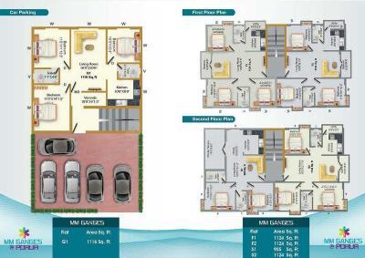 Project Image of 0 - 899.0 Sq.ft 2 BHK Apartment for buy in MS Charan MM Ganges