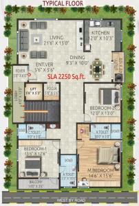 श्री साई बृंदावनम रेसिडेंसी में खरीदने के लिए 0 - 2250.0 Sq.ft 3 BHK अपार्टमेंट प्रोजेक्ट  की तस्वीर