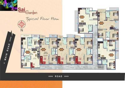 बीएसआर साई गार्डन में खरीदने के लिए 1044.0 - 1344.0 Sq.ft 2 BHK अपार्टमेंट प्रोजेक्ट  की तस्वीर