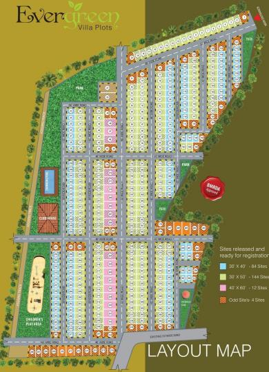 Project Image of 1200 - 2400 Sq.ft Residential Plot Plot for buy in Anugraha Evergreen Villa Plots
