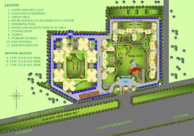 Gallery Cover Image of 2200 Sq.ft 3 BHK Apartment for rent in Tulip Ace, Sector 89 for 19500
