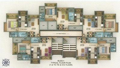 Gallery Cover Image of 710 Sq.ft 1 BHK Apartment for buy in Hiya Regency, Bhayandar East for 5325000