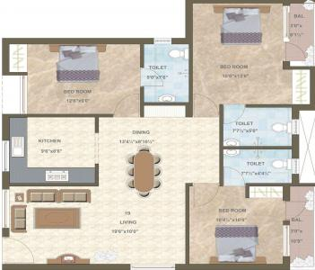 Gallery Cover Image of 800 Sq.ft 2 BHK Apartment for rent in Pace Anusa, Tambaram for 9000